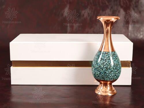 ست گلدان فیروزه کوبی با جعبه مقوایی سایز 15*33