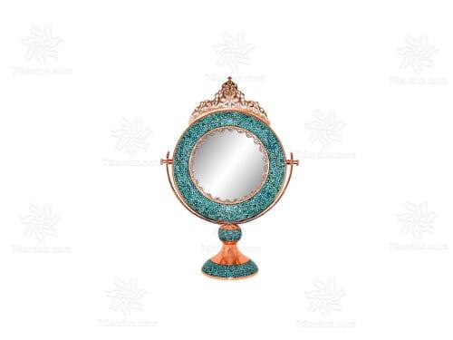 آینه گرد کوچک فیروزه کوب