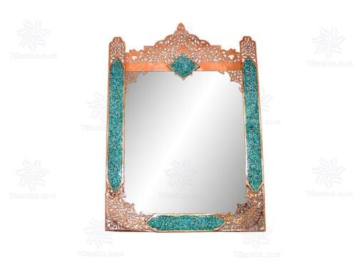آینه مستطیل متوسط شبکه بری فیروزه کوب