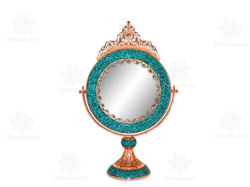 آینه گرد متوسط فیروزه کوب