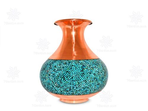 گلدان خمره ای (بلونی) 30 سانت فیروزه کوب