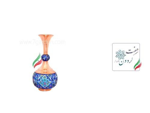 گلدان دالبری مس و مینا کوچک