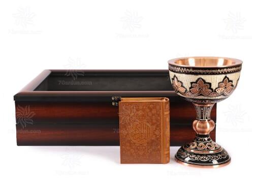 صنایع دستی سنگاب حکاکی روی مس با جعبه pvc مناسب هدایای خاص و تبلیغاتی